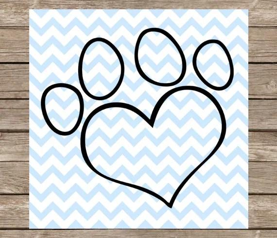 Download Dog svg Paw svg Heart svg cut file Love svg Pet svg SVG dxf