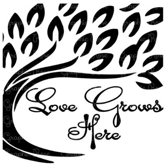 Download Love Grows Here Tree Vector Art svg dxf eps jpg pdf