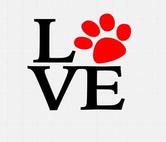 Download Paw Love Svg File Dog Love Svg Svg Cutting File Svg Cut