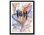 Original Abstract Waterco...