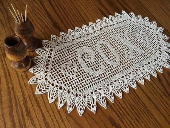 Personalized Crochet Wedding Gift Crochet Name Doily Unique