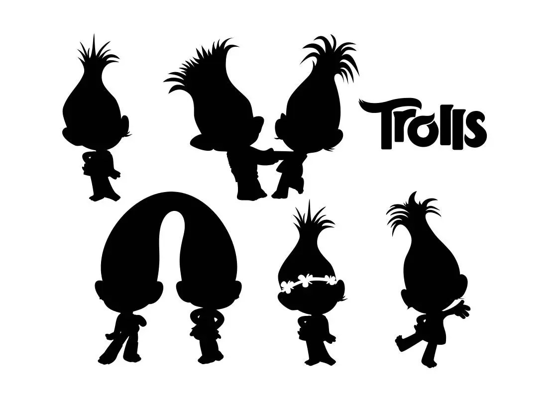 Silhouettes Of Trolls Svg Svg Clip Art Download Eps Dxf