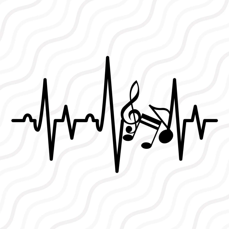 Music Note Heartbeat Svg Music Note Svg Heartbeat Svg