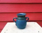 Blue Vase with Handles & ...