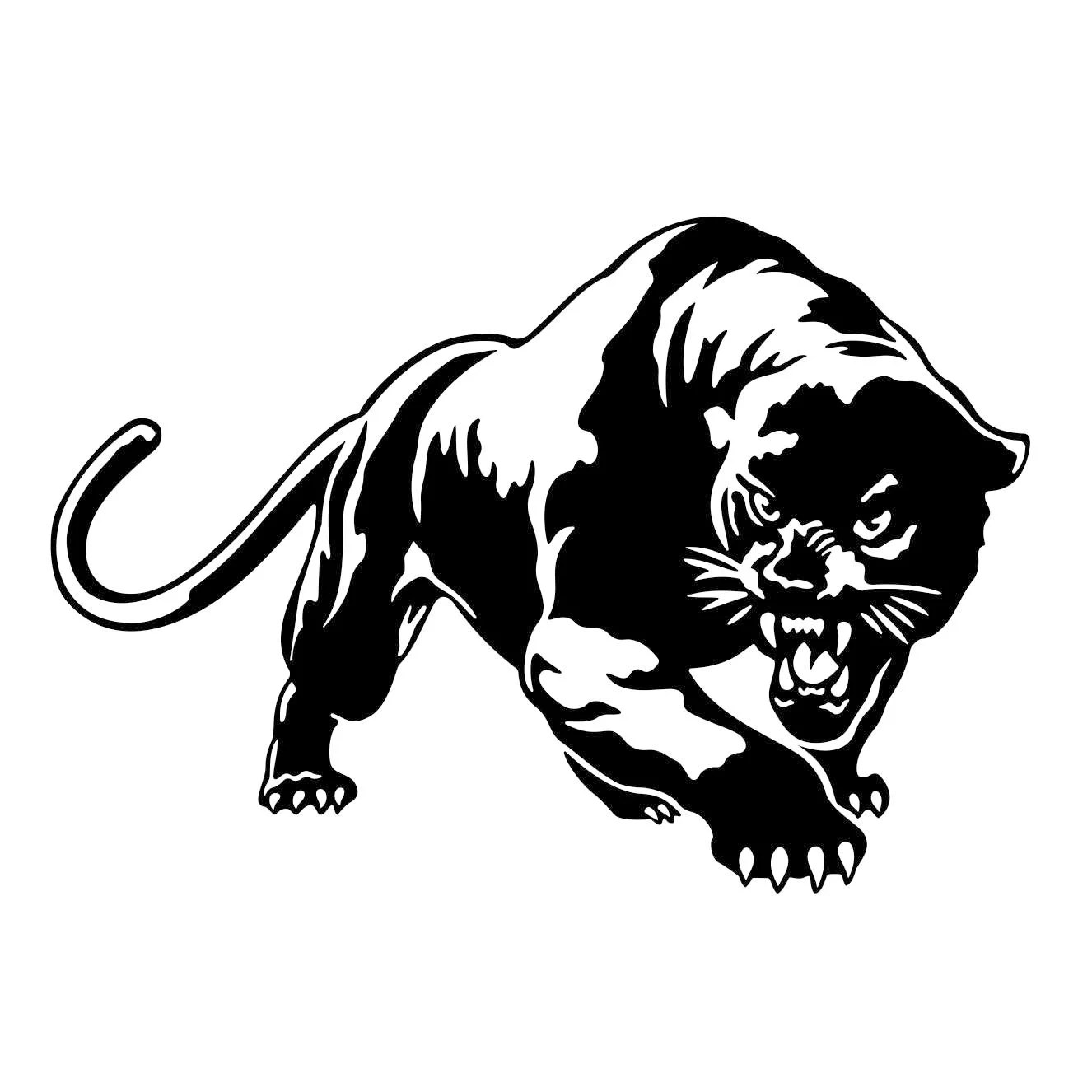 Puma Cougar Panther Graphics Svg Dxf Eps Cdr Ai