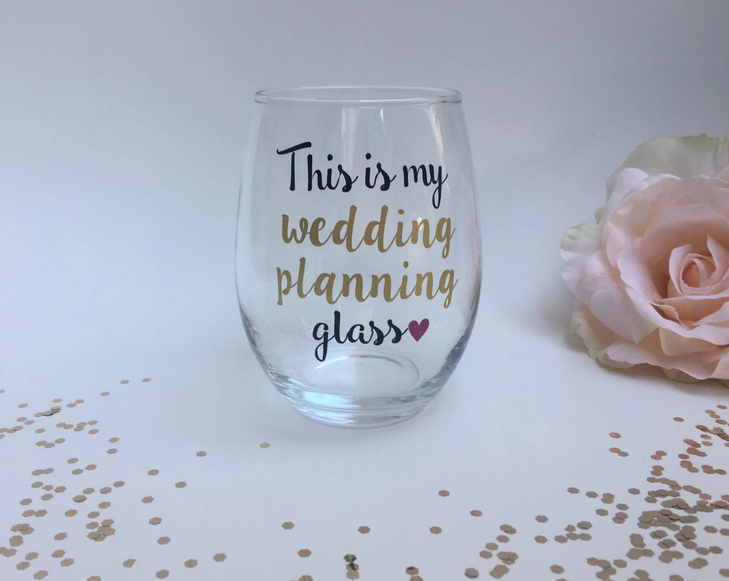 This Is My Wedding Planning Wine Glass Engagement Gift Gift