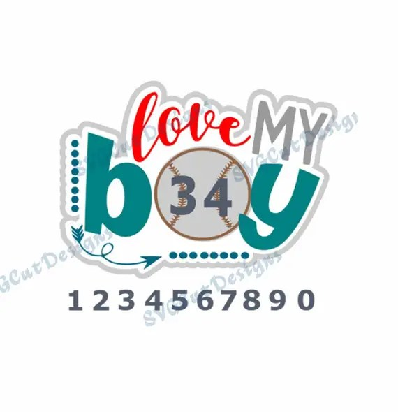 Download Love my boy Baseball svg Baseball mom SVG Baseball cut file