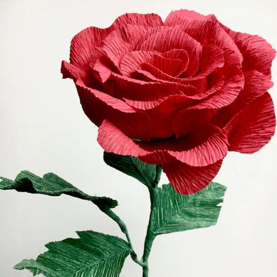Single Paper Flower Rose
