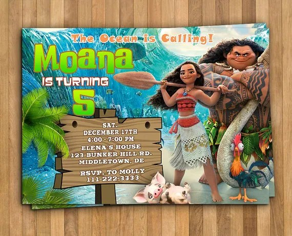 best disney moana birthday party ideas