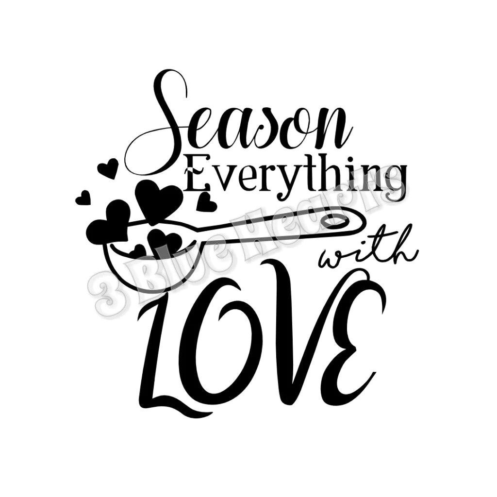 Download Season Everything with Love SVG dxf Studio Cutting Board SVG