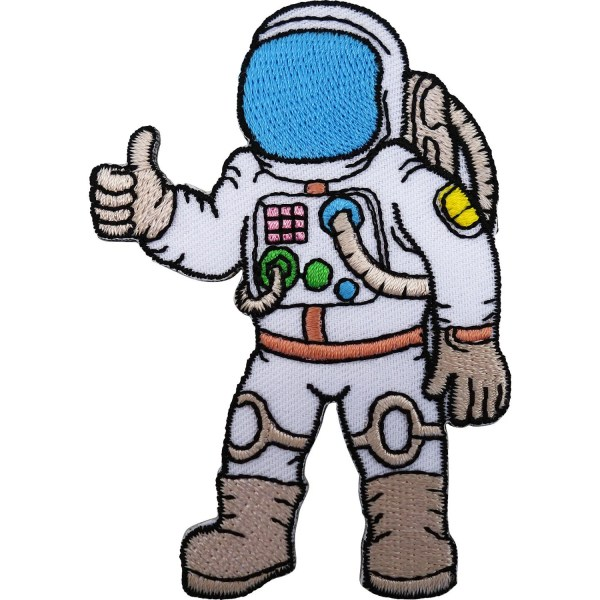 Astronaut Patch Iron / Sew On Embroidered Spaceman Space Suit
