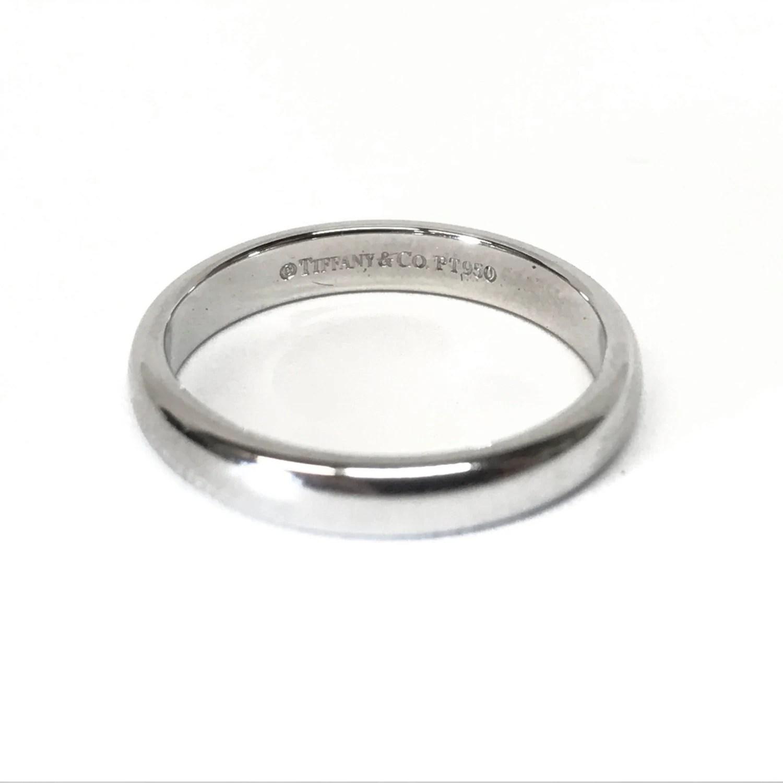 Tiffany Amp Co PLATINUM Wedding Band Promise Stacking Ring Size