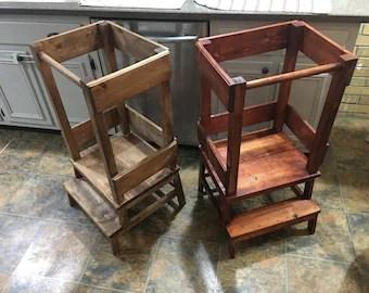 Little Helper Tower Toddler Kitchen Step Stool Montessori