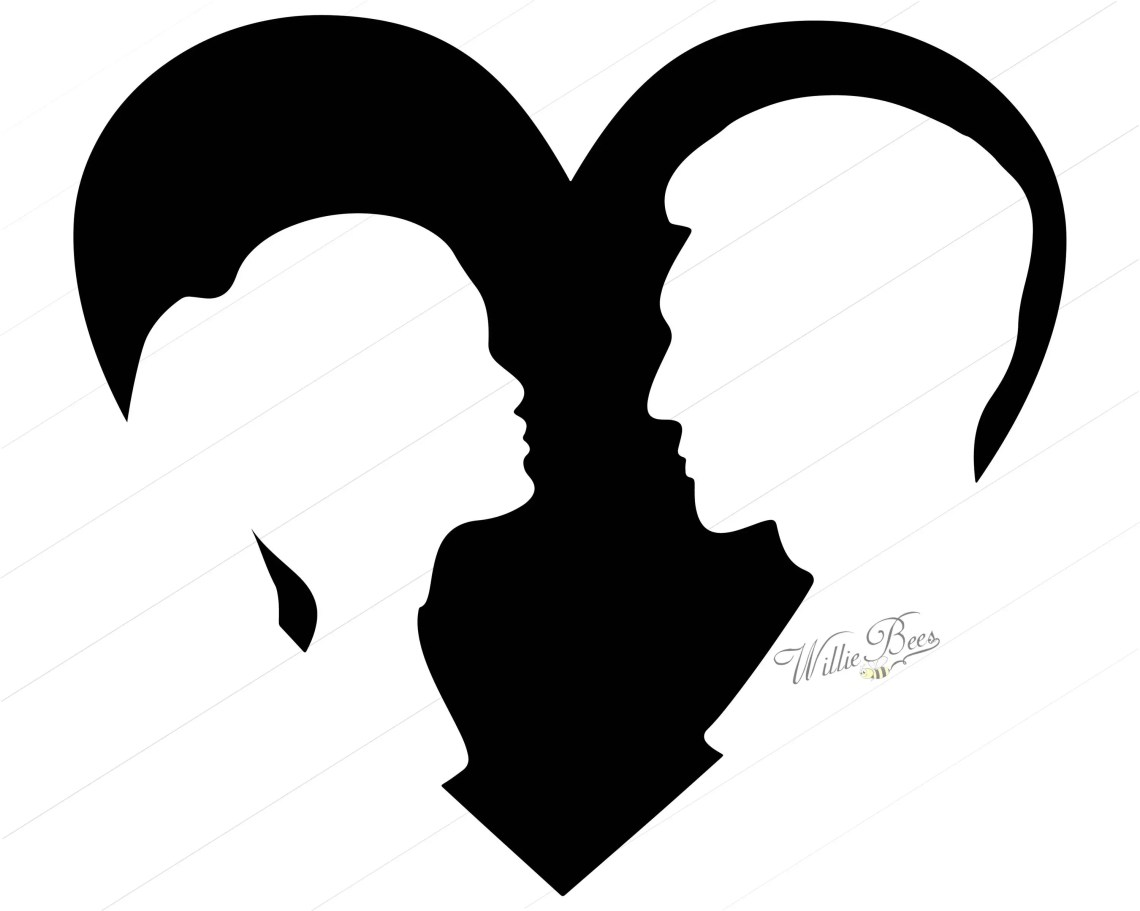 Download Heart Shape with Couple - 12 inches - PNG and SVG ...