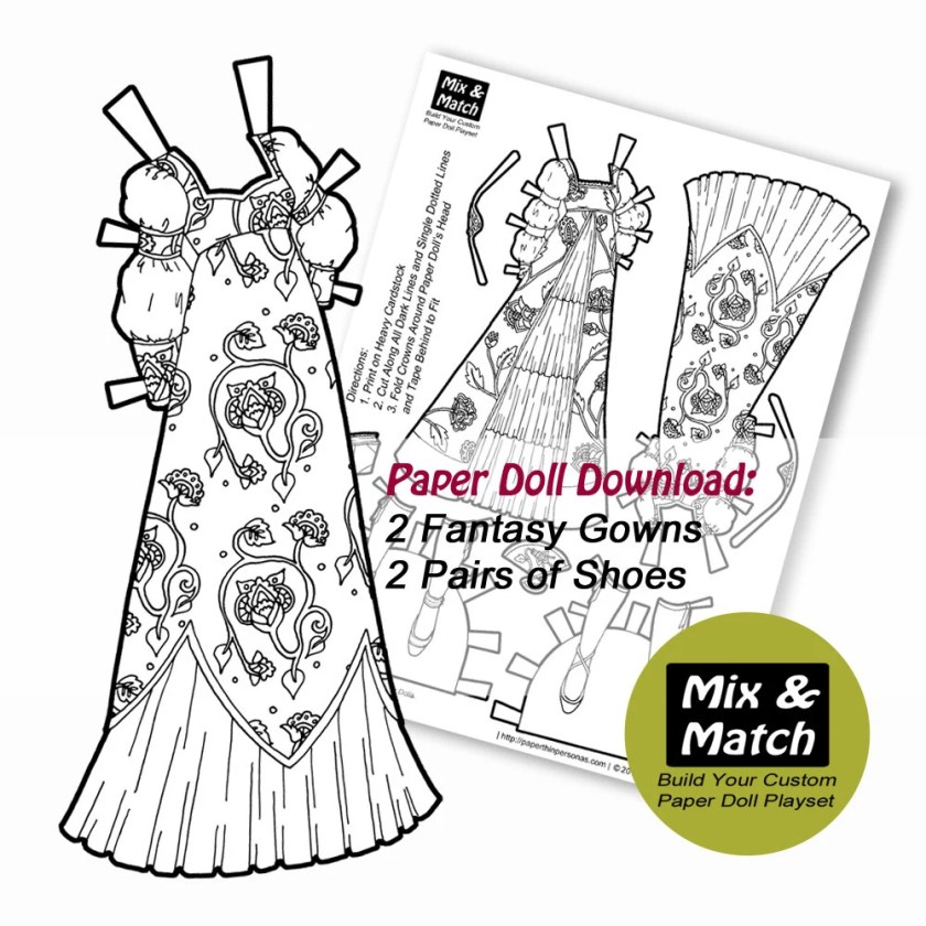 Paper Doll Princess Dress...