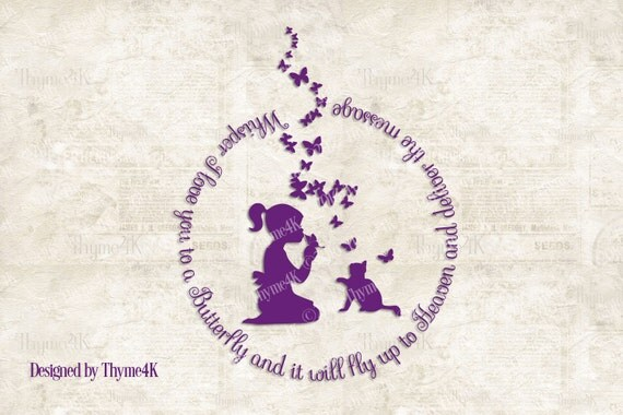 """Download Digital Design file """"Whisper I love you to a Butterfly ..."""