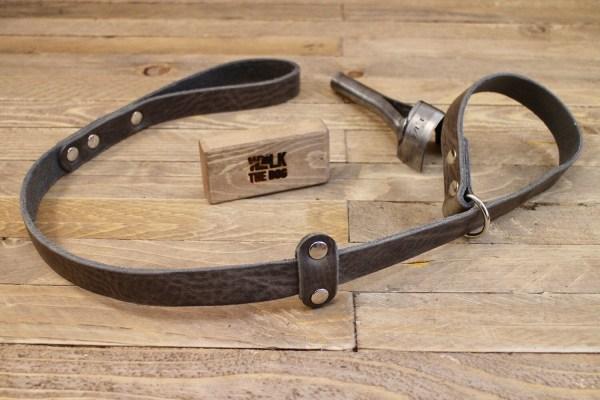 Slip lead, Leather leash, Grey slip lead, Collar and lead ...