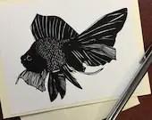 Beauty Fish Note Card - O...