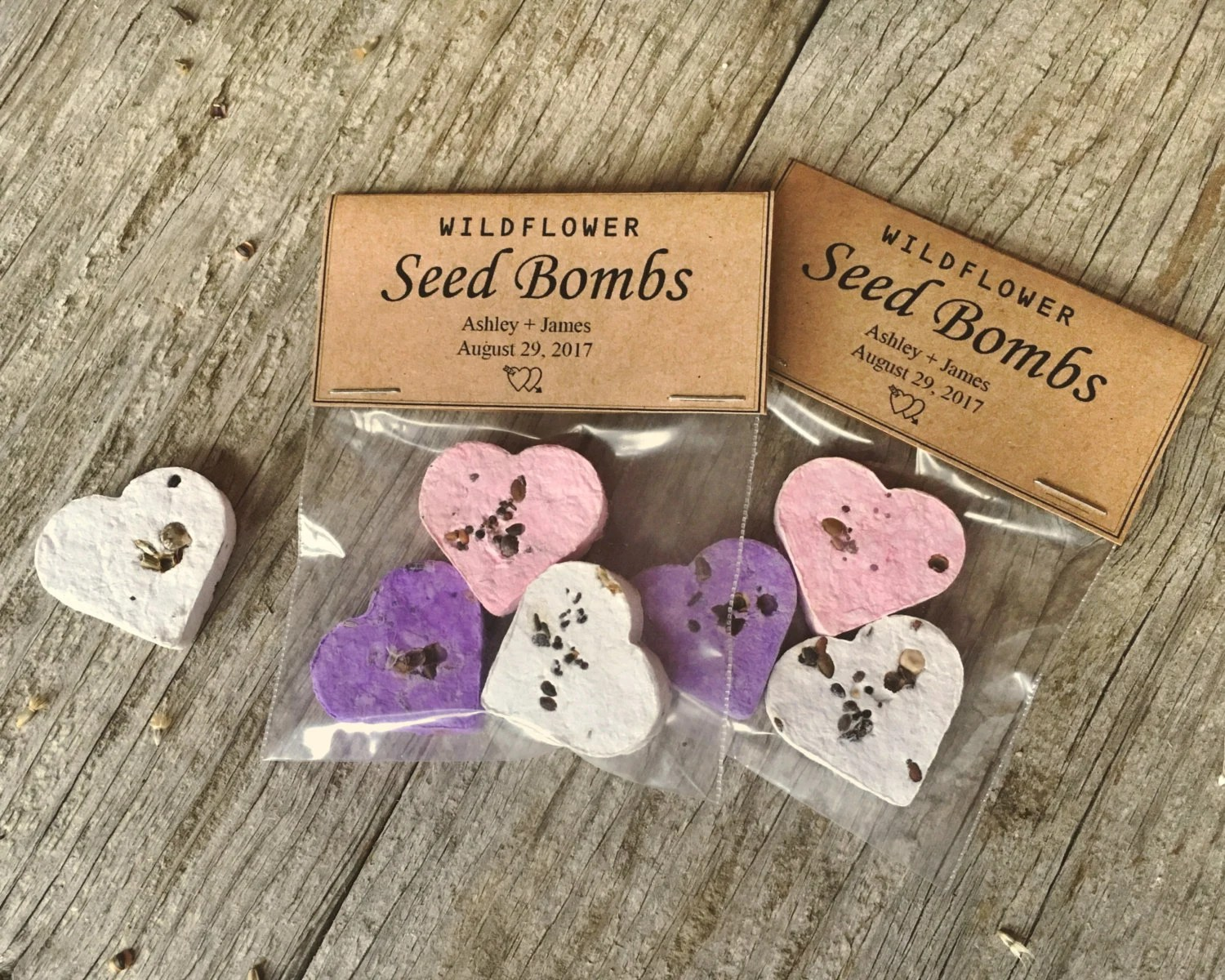 50 Wildflower Seed Bomb Wedding Favors