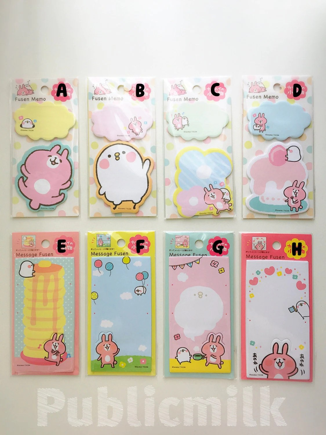 Sticky Notes Rabbit Shapes Checklist To Do List Page