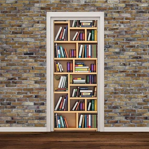 Bookshelf Door Wall Decal by Decorelo