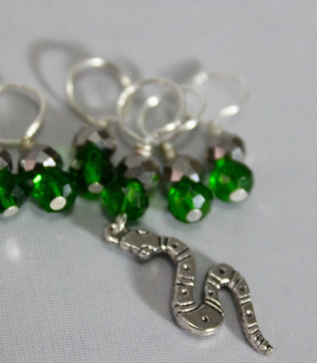Slytherin Stitch Markers...