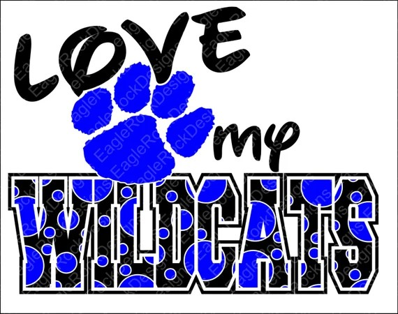 Download Love My Wildcats SVG DXF EPS Cut File Wildcats Paw
