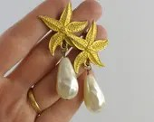 vintage signed earrings, ...
