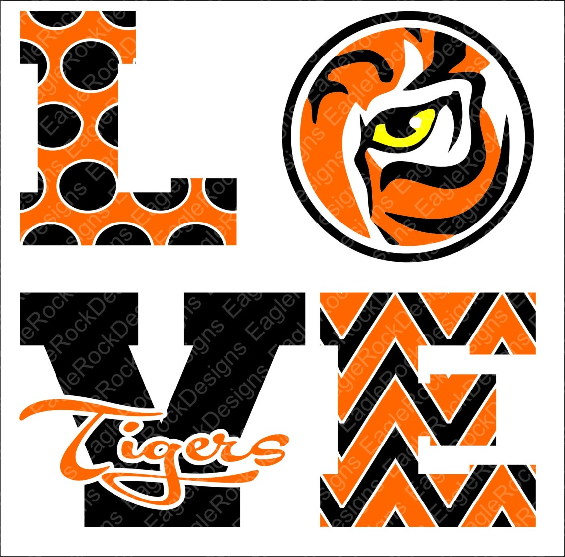 Download Love Tigers SVG DXF EPS Png Cut File Tigers Mom Tiger