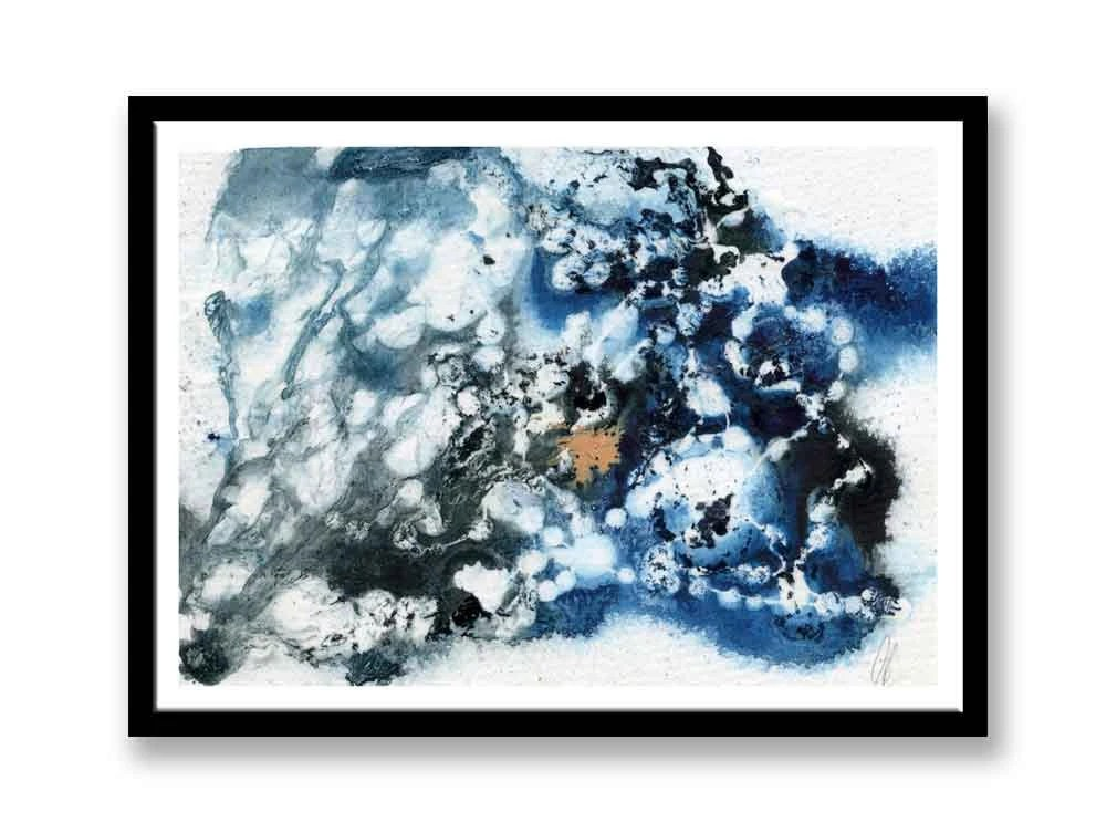 Blue and black Abstract i...