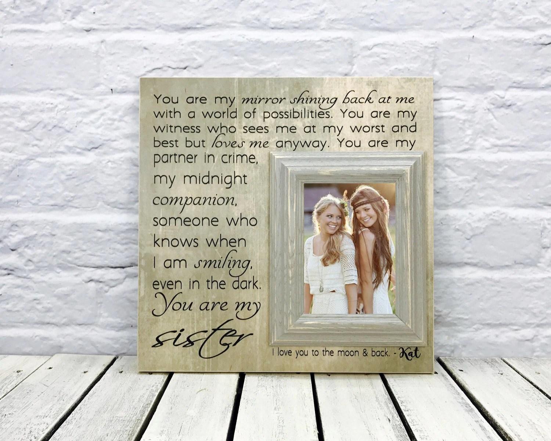 Sister Gift Maid Of Honor Gift Sister Wedding Gift