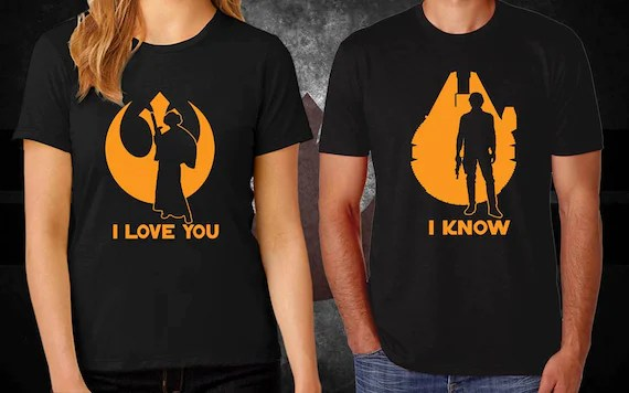 Download Star Wars I LOVE YOU I KNOW Couples Graphic