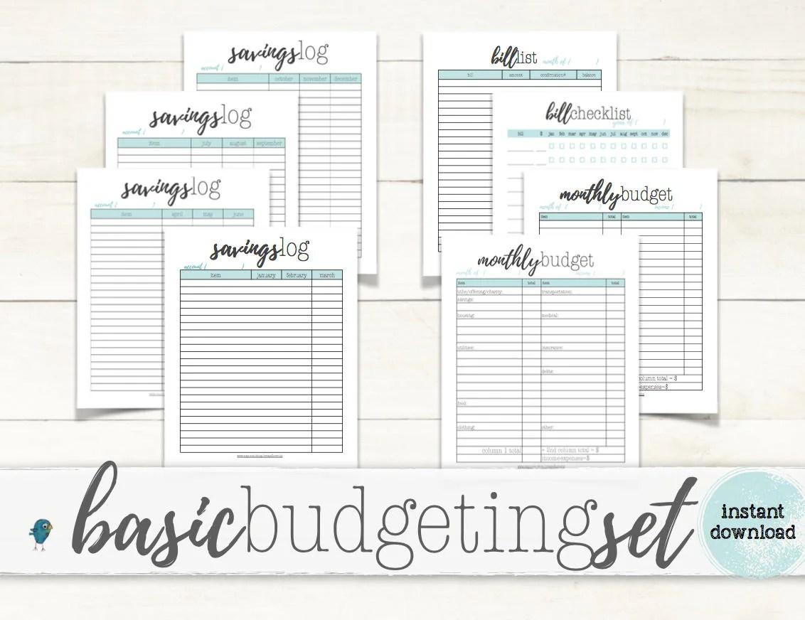 Basic Budgeting Set Budgeting Planner Worksheets For Your