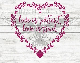 Download Love is patient sign | Etsy