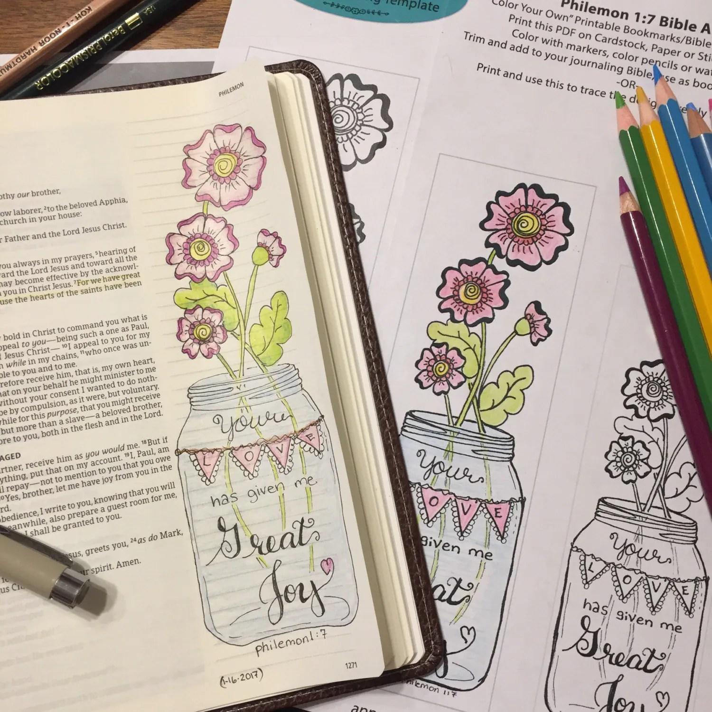 Bible Journaling Verse Art Margin Art Bookmark Featuring