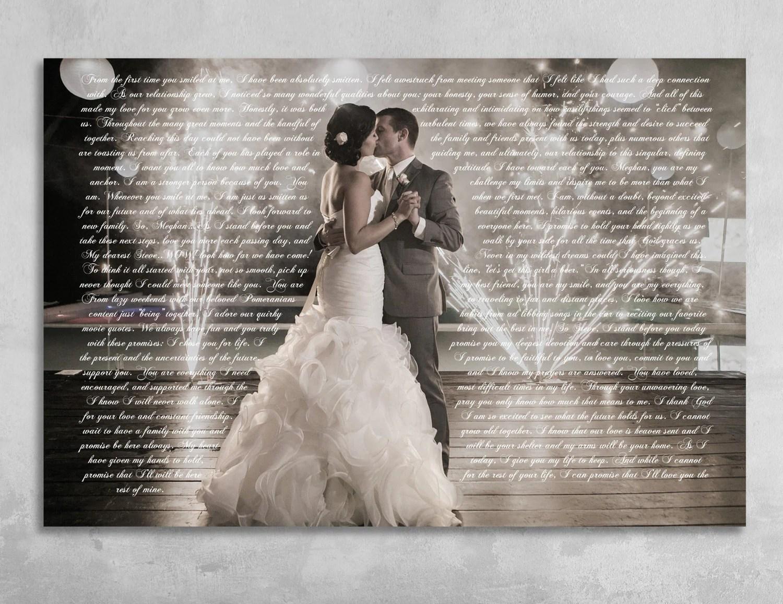 Wedding Vows Framed Anniversary Gift Wedding Vow Art