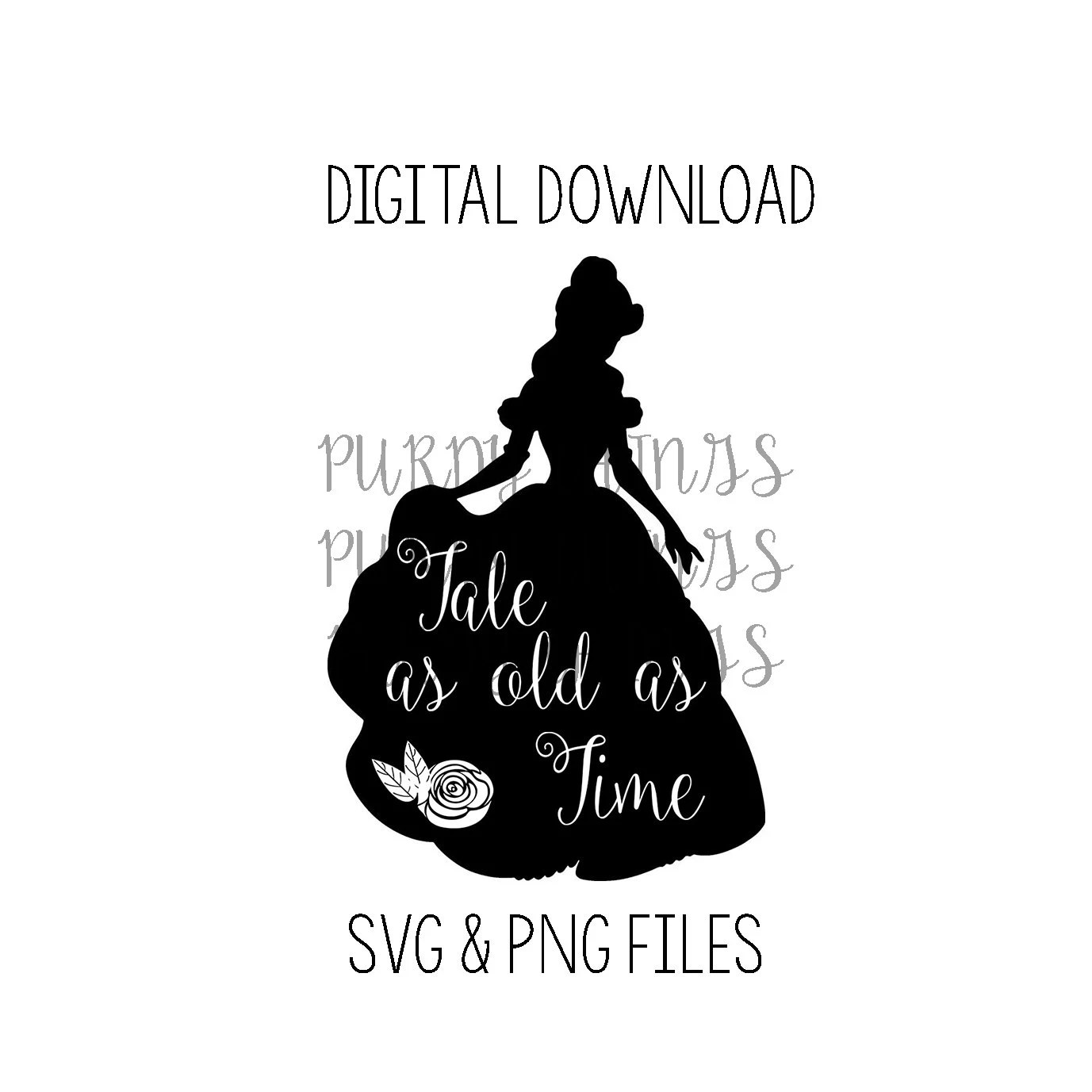 Belle Tale As Old As Time Svg Digital File Instant