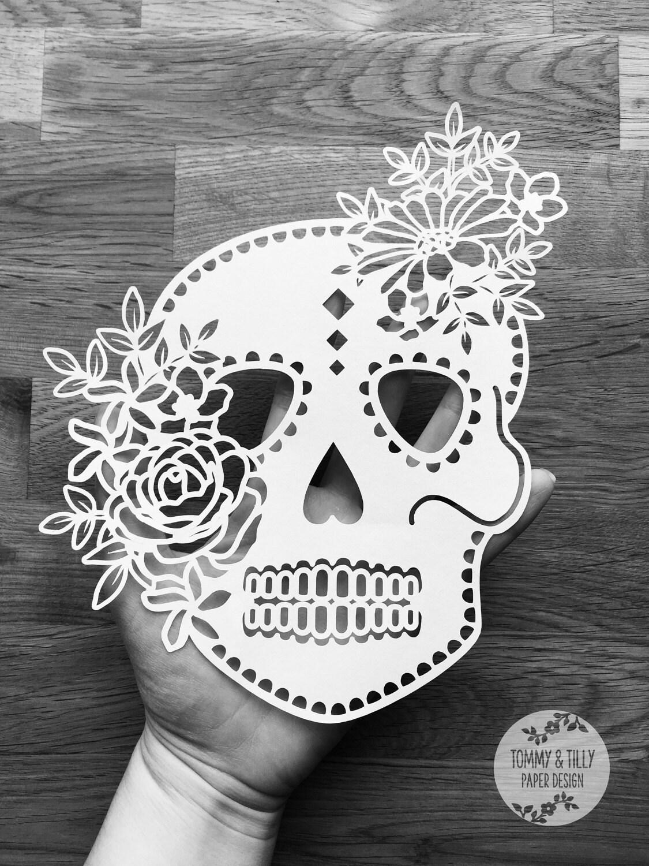 Svg Floral Sugar Skull Design