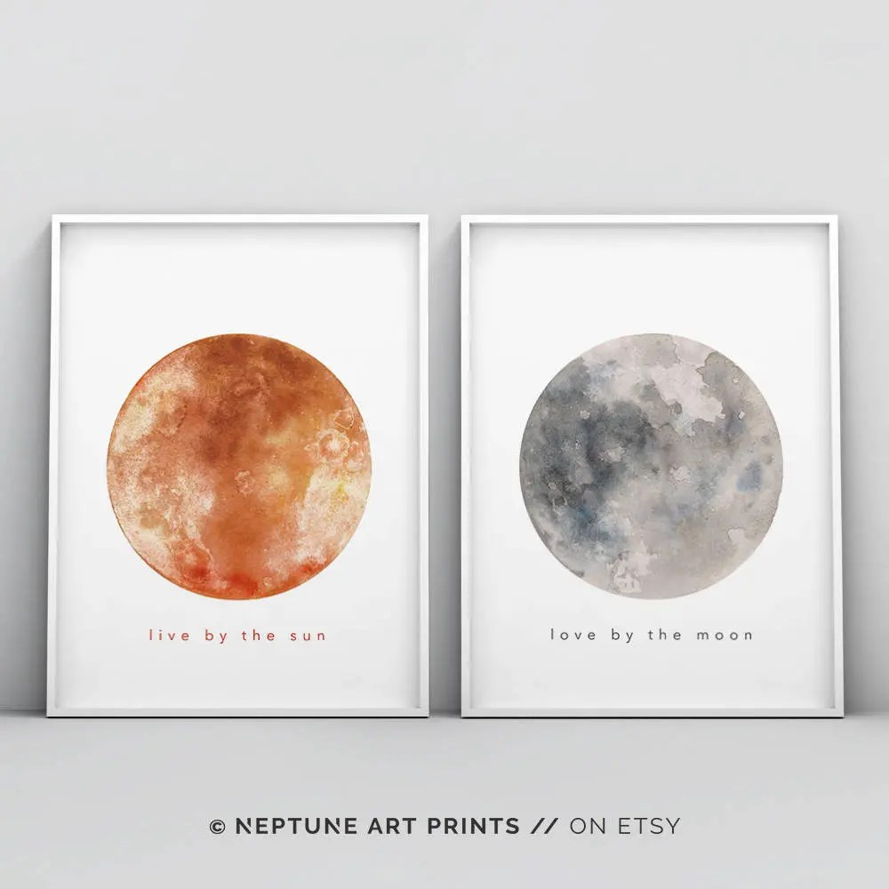 Download Live by the Sun Love by the Moon Set of Two Printable