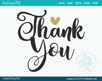 Download Thank you svg file   Etsy