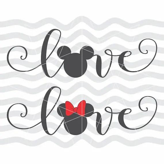 Download Love disney svg Love disney dxf Love disney cut Love mickey