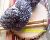 Ligiea RockStar Handspun Yarn - 280 yds, wool and fine mixed fiber blend single ply