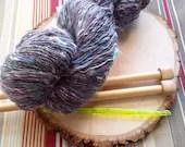 Ligiea RockStar Handspun Yarn - 280 yds, wool and fine mixed fiber blend single ply