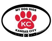 DECAL - My Dog Digs KC Ka...