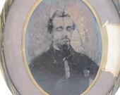 Antique tintype portrait,...