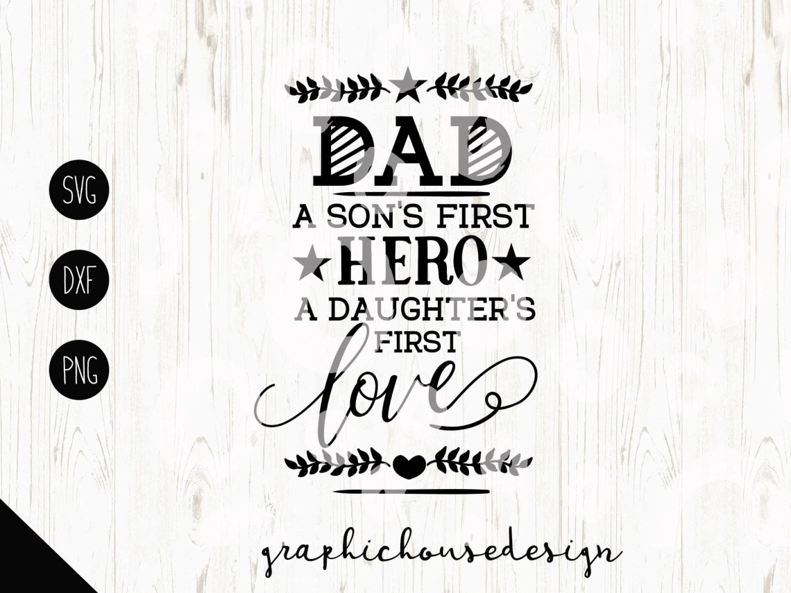 Download father's day svg father svg dad quote Dad a son's