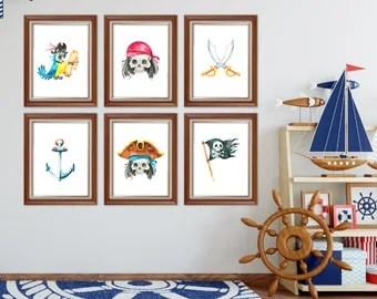 pirate room decor   etsy