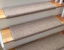 Alfa Dusk 100% Wool Carpet Stair Tread JMish (Sold Per Step/Each)