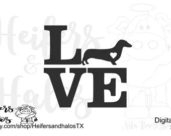 Download 12 Dachshund Digital Vector Silhouette Shapes Clipart EPS ...
