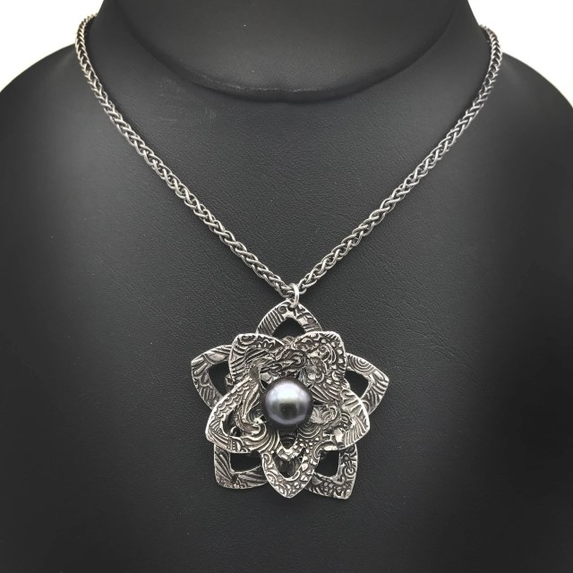 Silver Flower Necklace | ...